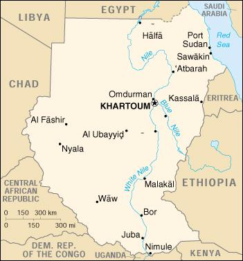 Sudan - (Africa) (Print)