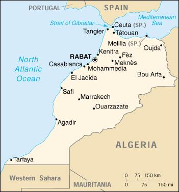 Morocco - (Africa) (Print). Information about Morocco